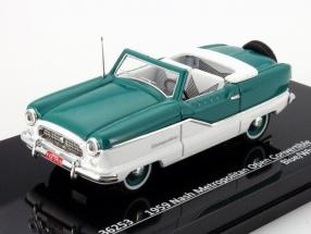 Nash Metropolitan Open Convertible Baujahr 1959 blau / weiß 1:43 Vitesse