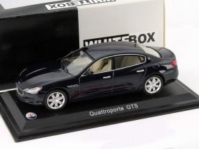 Maserati Quattroporte GTS dark blue metallic 1:43 WhiteBox