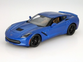 Chevrolet Corvette Stingray Z51 Year 2014 blue 1:18 Maisto
