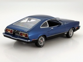 Ford Mustang II Mach 1 year 1976 blue / black
