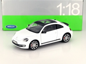 Volkswagen VW New Beetle Year 2012 white 1:18 Welly