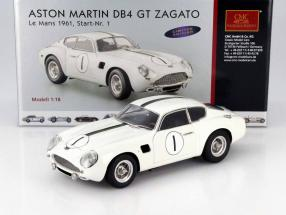 Aston Martin DB4 GT Zagato #1 24h LeMans 1961 Kerguen, Dewes 1:18 CMC