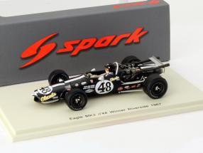 Dan Gurney Eagle MK3 #48 Winner Indycar Riverside 1967 1:43 Spark