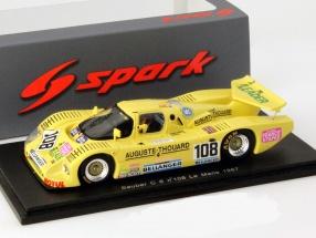 Sauber C6 #108 24h LeMans 1987 Hervalet / Yvon / Bourjade 1:43 Spark