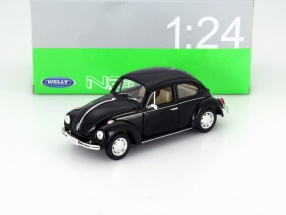 Volkswagen VW Käfer Hard Top Year 1959 black 1:24 Welly