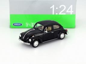 Volkswagen VW Käfer Hard Top Baujahr 1959 schwarz 1:24 Welly