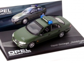 Opel Omega Military Police Year 1994-1998 dark green 1:43 Altaya