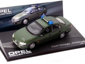 Opel Omega Military Police Year 1994-1998 dark green 1:43 Altaya