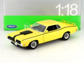 Mercury Cougar Eliminator Year 1970 yellow 1:18 Welly