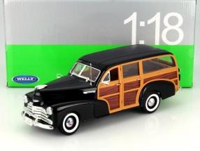 Chevrolet Fleetmaster Baujahr 1948 schwarz 1:18 Welly