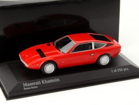 Maserati Khamsin year 1977 fuoco red 1:43 Minichamps