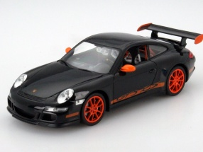 Porsche 911 (997) GT3 RS Year 2007 black / orange 1:24 Welly