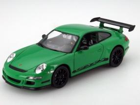 Porsche 911 (997) GT3 RS Baujahr 2007 grün / schwarz 1:18 Welly