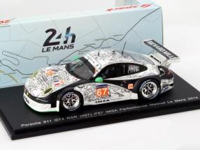Porsche 911 (997) GT3 RSR #67 24h LeMans 2014 IMSA Performance Matmut 1:43 Spark