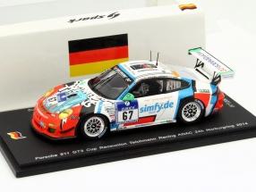 Porsche 911 (997) GT3 Cup #67 24h Nürburgring 2014 Teichmann Racing 1:43 Spark