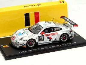 Porsche 911 997 GT3 R #93 24h Spa 2014 Pro GT by Almeras 1:43 Spark