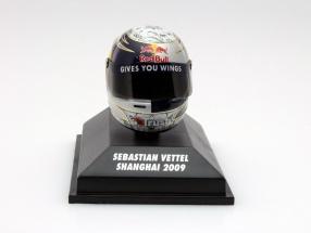 S. Vettel Red Bull GP Shanghai Formel 1 2009 Helm 1:8 Minichamps