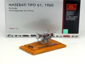 Maserati Tipo 61 Birdcage Motor Aggregat Baujahr 1960 + Vitrine 1:18 CMC