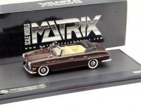 BMW 502 3200 V8 Super Cabriolet year 1959 dark brown 1:43 Matrix