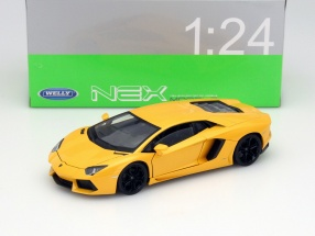 Lamborghini Aventador LP700-4 Year 2011 yellow metallic 1:24 Welly