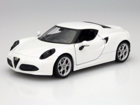 Alfa Romeo 4C Year 2013 white 1:24 Welly