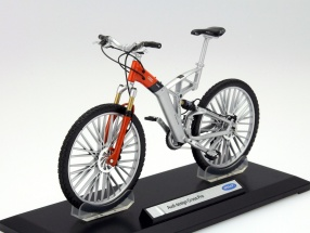 Fahrrad Audi Design Cross Pro silber / orange 1:10 Welly