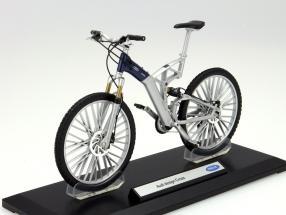 Fahrrad Audi Design Cross silber / blau 1:10 Welly