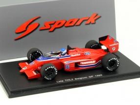 Patrick Tambay Lola THL2 #16 Belgium GP Formula 1 1986 1:43 Spark