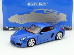 Porsche Cayman (981C) Year 2013 blue metallic 1:18 Minichamps