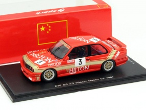 BMW M3 (E30) #3 Winner Macau GP 1987 Ravaglia 1:43 Spark