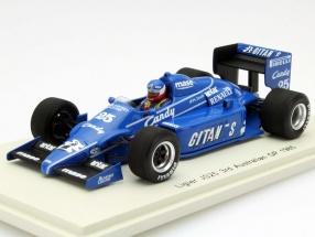 Philippe Streiff Ligier JS25 #25 3rd Australia GP Formula 1 1985 1:43 Spark