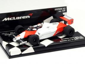 John Watson McLaren MP4/1C #7 Winner USA West GP Formula 1 1983 1:43 Minichamps