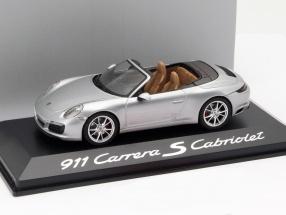 Porsche 911 (991/II) Carrera S Cabriolet Baujahr 2016 silber 1:43 Herpa