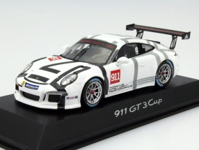 Porsche 911 (991) GT3 Cup Coupe #911 Year 2015 white 1:43 Spark