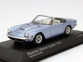 Maserati Mistral Spyder Year 1964 Light Blue metallic 1:43 Minichamps