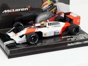 A. Senna McLaren MP4/4 #12 World Champion Japan GP Formula 1 1988 1:43 Minichamps