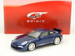Porsche 911 (991) Carrera 4S 2013 Facebook 5 Million likes blue 1:18 GT-Spirit