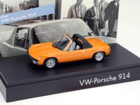Volkswagen VW Porsche 914 1969 orange 1:43 Minichamps