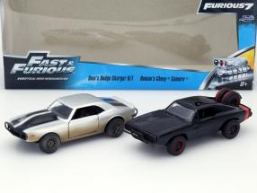 Fast and Furious 2-Car Set Dodge Charger / Chevrolet Camaro 1:32 Jada Toys