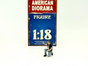 Biker Figure Motorman 1:18 American Diorama