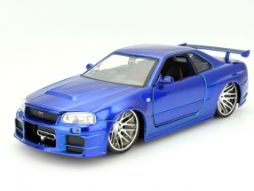 Brian´s Nissan Skyline GT-R (R34) Fast and Furious blue 1:24 Jada Toys