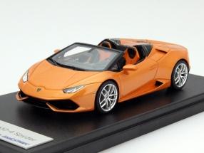 Lamborghini Huracan LP610-4 Spyder Baujahr 2015 orange 1:43 LookSmart