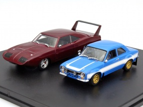 2-Car Set Dodge Charger Daytona, Ford Escort Fast and Furious 6 1:43 Greenlight