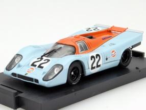 Porsche 917 K #22 Gulf Hailwood, Hobbs 24h LeMans 1970 1:43 Brumm
