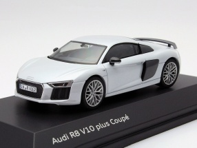 Audi R8 V10 plus Coupe Year 2015 Suzuka Grey 1:43 Herpa