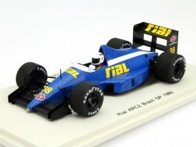 Christian Danner Rial ARC2 #38 Brazil GP Formula 1 1989 1:43 Spark