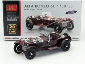 Alfa Romeo 6C 1750 GS #84 Winner Mille Miglia 1930 Nuvolari, Guidotti 1:18 CMC