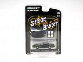 Pontiac Trans Am Film Smokey and the Bandit II 1980 black / gold 1:64 Greenlight