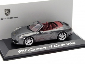 Porsche 911 (991) Carrera 4 Cabriolet grau metallic 1:43 Herpa