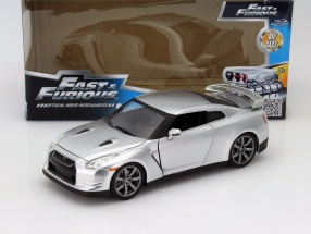 Brian's Nissan GT-R (R35) Fast and Furious silver 1:24 Jada Toys